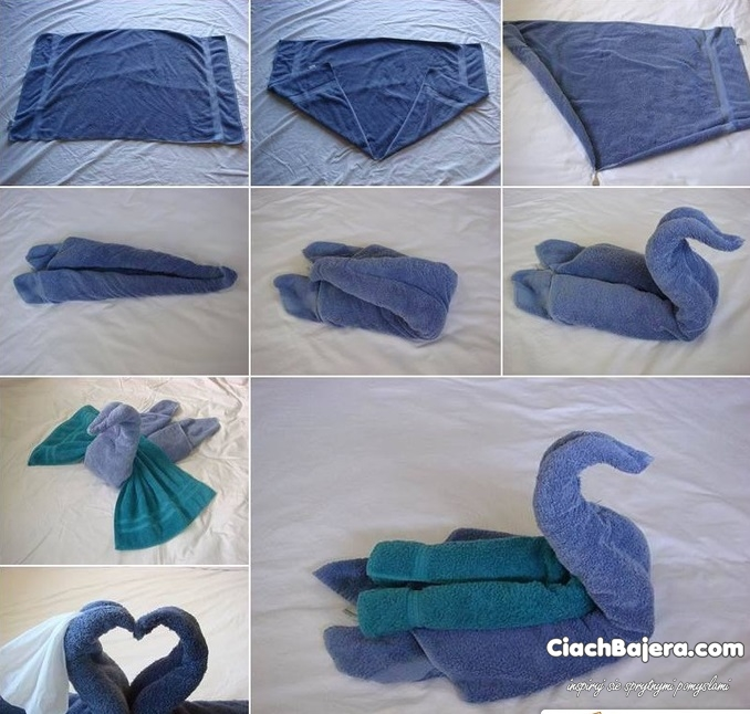 how to make a swan out of a towel